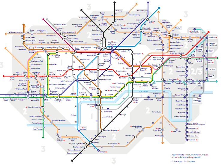 Tube map, Walk the Tube map