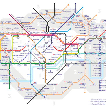 El Walk the Tube map de Londres