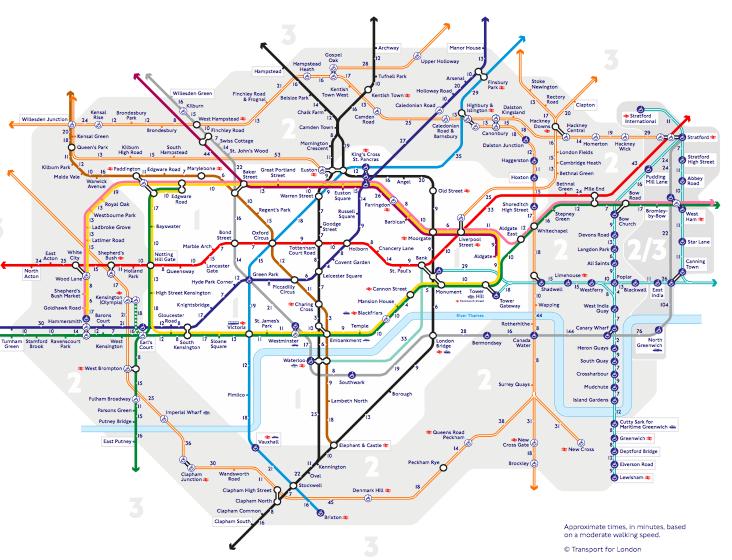 El Walk the Tube map de Londres